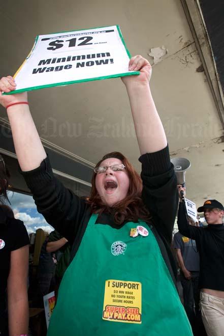 Starbucks employee on strike