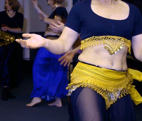 Belly dancing class.