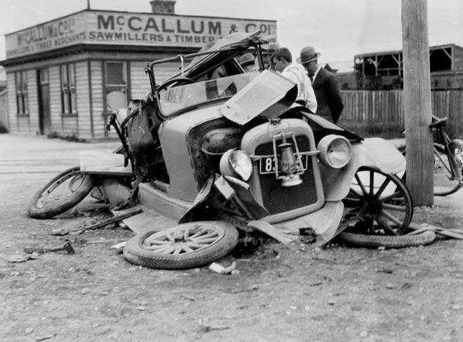 Early car accident