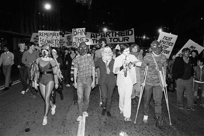 Masked protest, 1981
