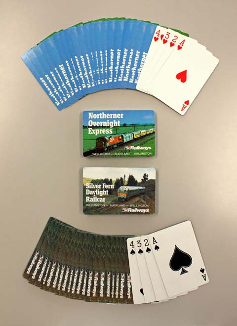 Railways playing cards