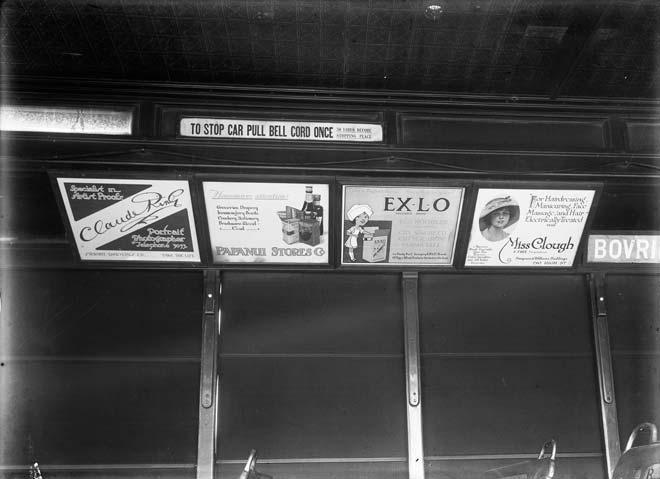 Tram advertisements