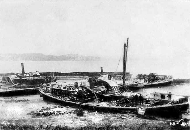 Steam ferry graveyard