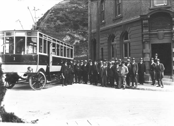 Wellington's first trolleybus
