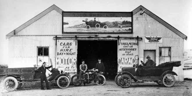 First Todd Motors garage