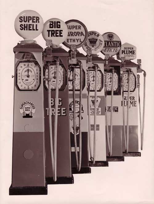 Old petrol pumps