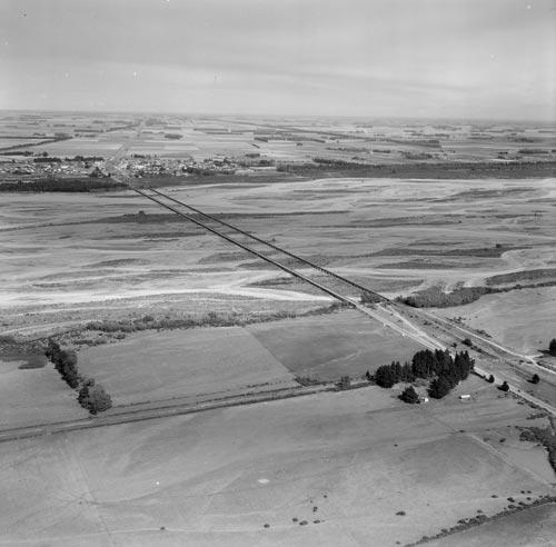 Rakaia road and rail bridges, 1959