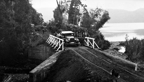 Opening Red Jacks Creek bridge, around 1927