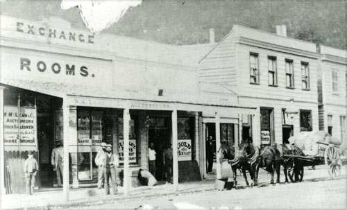Reefton exchange rooms, late 1870s