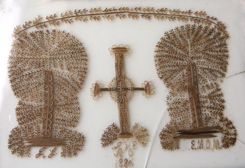 Scandinavian hair embroidery