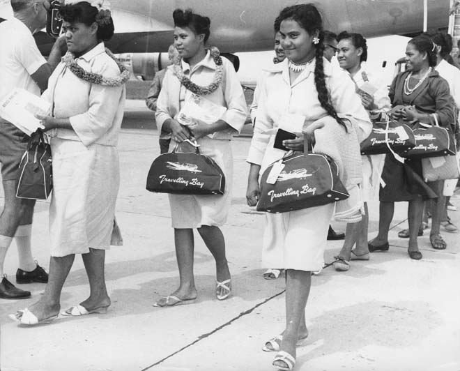 Tokelauans arrive in New Zealand, 1966