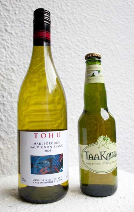 Tohu wine and TaaKawa beer