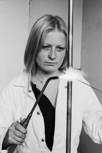 Sue Davidson, plumber
