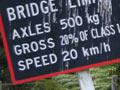 Heavy vehicles bridge limit