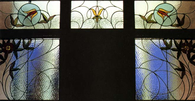 Art Nouveau Stained Glass Building Materials Te Ara