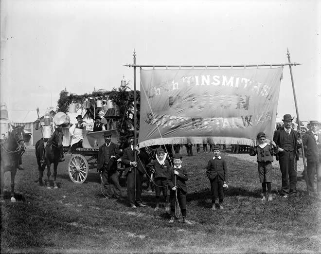 Tinsmiths union on parade