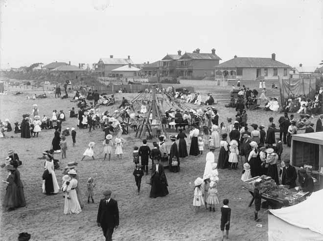 New Brighton beach, 1910