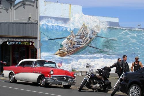 Surf lifesaving mural
