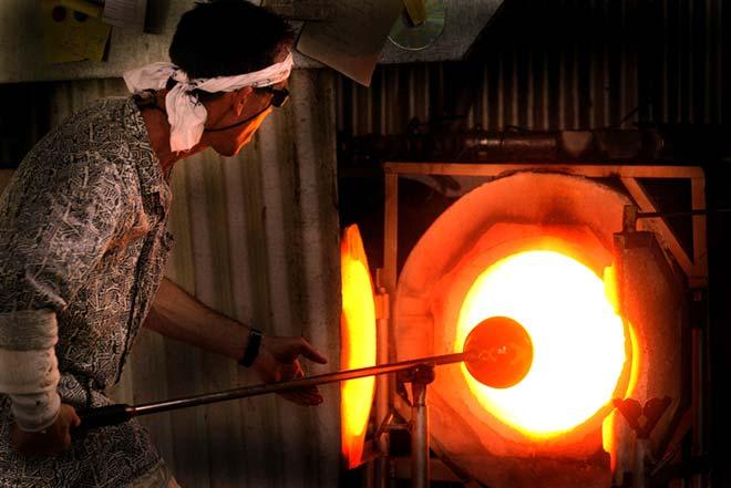 Glass-blowing workshop, Rotorua