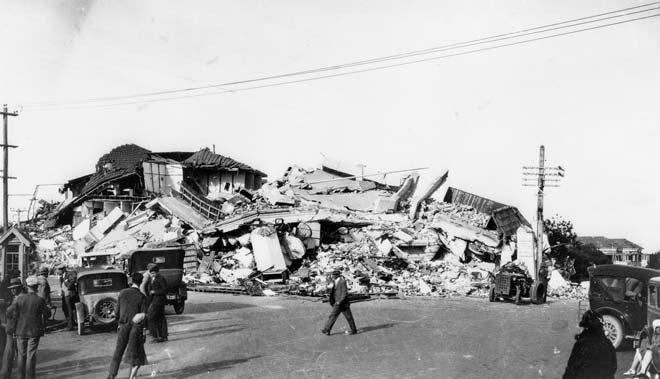 Wreckage of the Nurses' Home, 1931