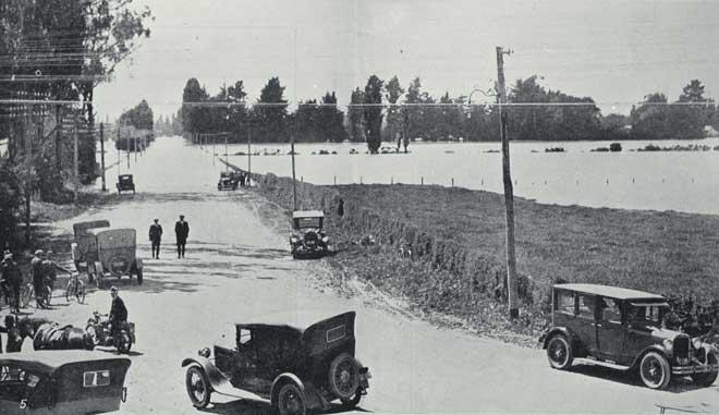 Waimakariri River breaks its banks, 1926