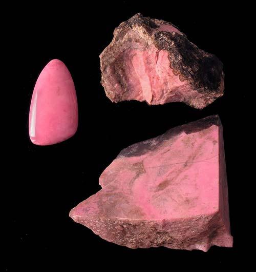 Pink manganese minerals