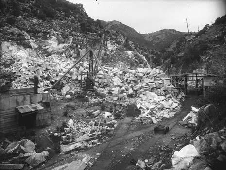 Large blocks of marble were quarried from Tākaka ...