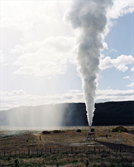 Bore discharging wet steam