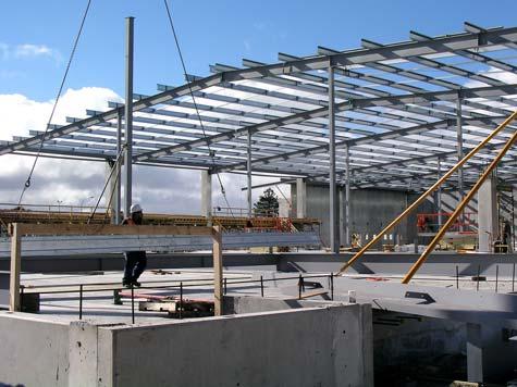 Galvanised steel beams