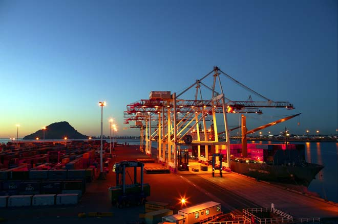 Container cranes, Sulphur Point