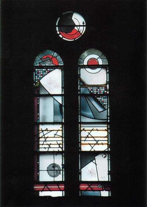 Stained-glass memorial