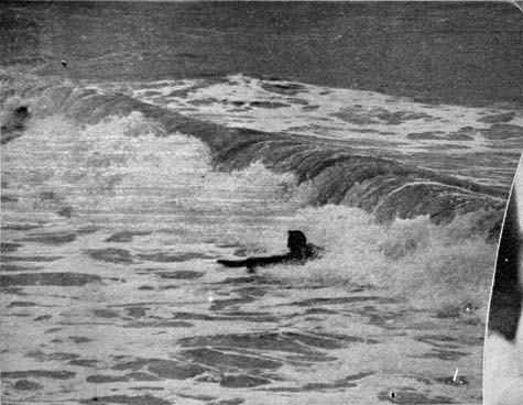 A surfing demonstration
