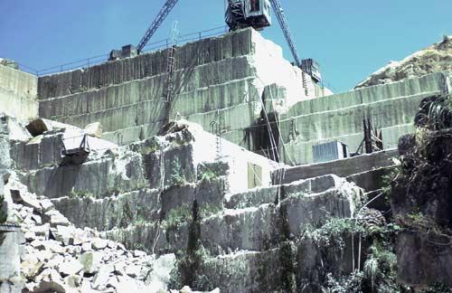 Ignimbrite quarry