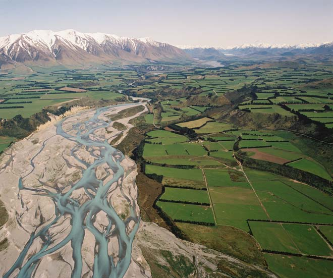 Rakaia River flood plain