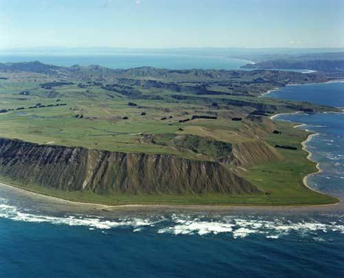 Uplifted terrace m hia geology overview te ara for 16 marine terrace