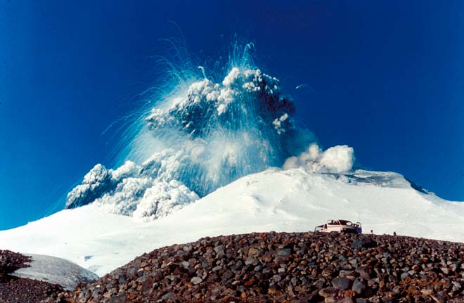 Explosive eruption, Mt Ruapehu