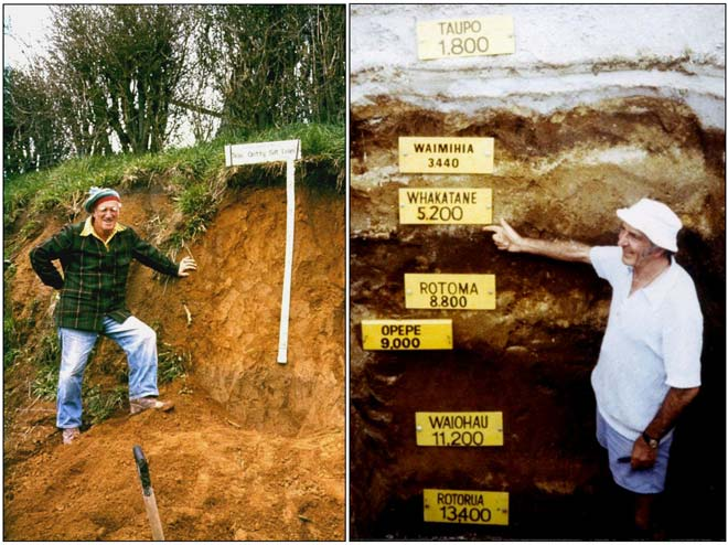 Alan Pullar and Colin Vucetich, pioneers in tephrostratigraphy