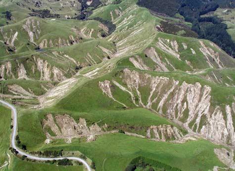 Regolith landslides