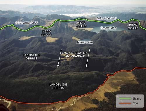 Green Lake Landslide Landslides Te Ara Encyclopedia Of