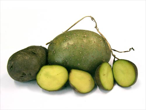 Green potatoes