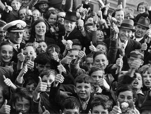 Welcoming Scottish children, 1940