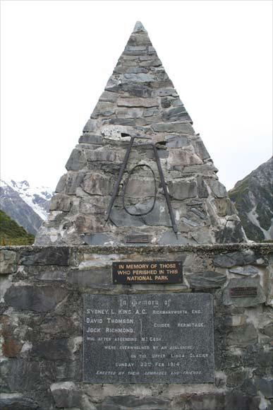 Aoraki/Mt Cook memorial