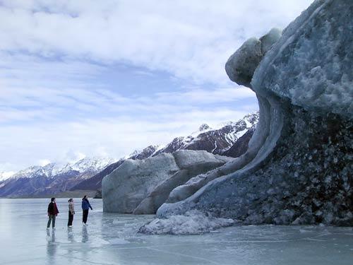 Melting Tasman Glacier