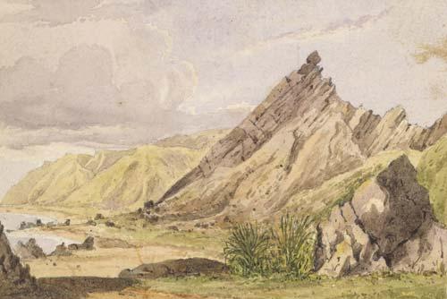 'Kupe's Sail Rock, Palliser Bay'