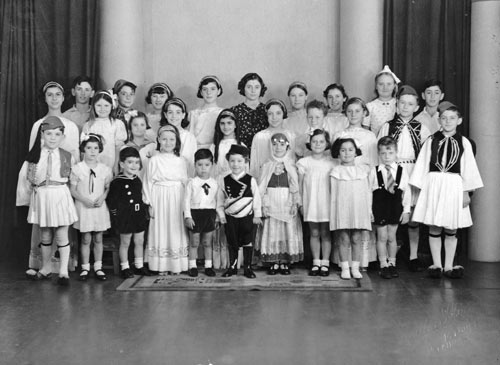 The first Greek school in New Zealand, about 1939