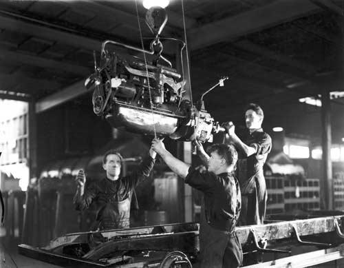 Assembling cars