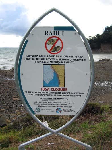Rāhui sign