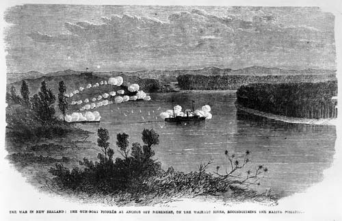 Gunboat on the Waikato River