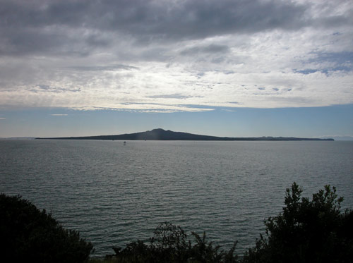Rangitoto from Bastion Point, near Ōkahu Bay