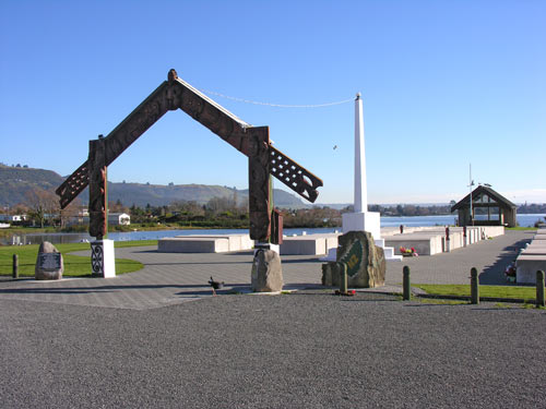 Graves and memorial at Ōhinemutu